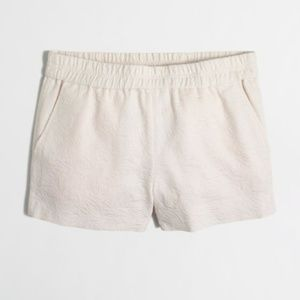 "J. Crew 3"" White Boardwalk Pull-On Shorts"